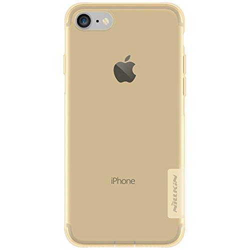 Meimeiwu Alta Qualità Trasparente Sottile Cover Slim Fit custodia Morbido Natura TPU Protezione Case per iPhone 7 Plus Bianco Marrone