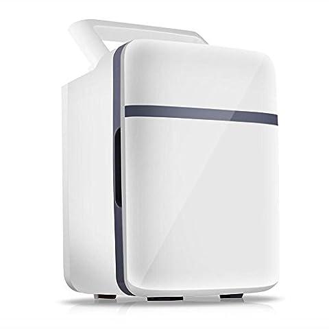 HuanLeBao thermoelektrische Kühlbox, 10Liter, 50W,anschlussfertig für den PKW, 12-Volt, Kühlen und Heiz-Funktion, tragbarer Mini-Kühlschrank , Weiß , 10L
