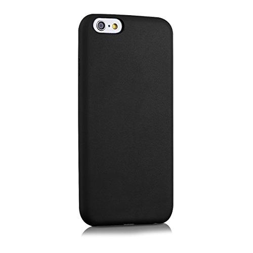 kwmobile Hülle für Apple iPhone 6 / 6S - Kunstleder Case Handy Schutzhülle - Backcover Cover Beige .Schwarz Matt