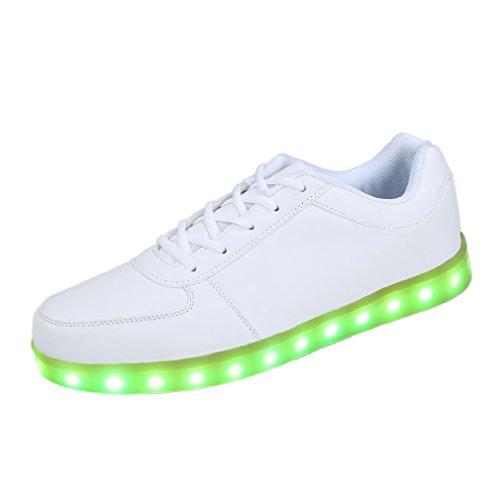 the best attitude b926b 19c70 SAGUARO Herren Damen 7 Farbwechsel USB Leuchtend LED Sport Schuhe  Sportschuhe Sneaker Turnschuhe Size 42