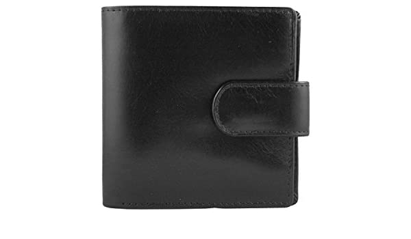 Marco Valenti Credit Card High Quality Leather Wallet with Stud Secured Clasp