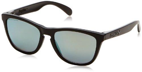Oakley unisex - adulto frogskins 24-404 55 occhiali da sole, nero (matte black/emerald polarized)