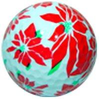 Balle de Golf en forme de poinsettia de Noël sur le thème de Noël Hiver - 1 balle