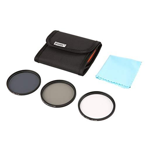 Onleny 52/58/62 / 67mm Filterset Slim UV CPL ND4 Filter mit Aufbewahrungstasche + Reinigungstuch 5 teiliges Kit für Digitalkamera