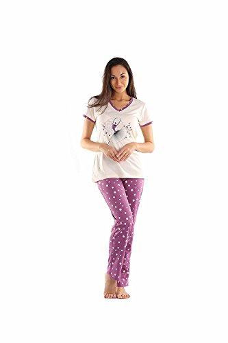 Lenissa Women's Cotton Short Sleeve Pyjama Set/Night Dress/Night Suit For Women