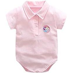 HBOY Vêtements pour bébé, Combinaison, Revers, bébé, Triangle, barboteuse-Pink-66cm
