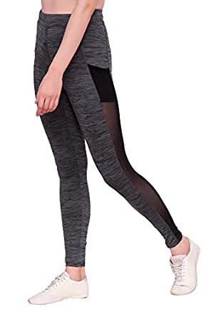 BLINKIN Mesh Gym wear Leggings Ankle Length Workout Active wear | Stretchable Tights | High Waist Sports Fitness Yoga Track Pants for Women|Girls(Polyester Fabric)(7800)
