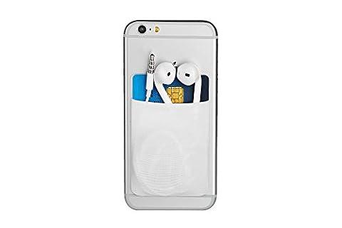 Cerbery® | Smartphone Kartenhalter | Auto Case Fingerhalter Fitness Folie Geldbeutel Geldbörse Halter Halterung Handy Hülle Kartenhülle Kopfhörer Sport | Apple iPhone 7 Samsung Galaxy S8
