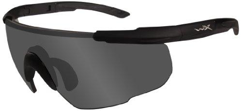 Wiley X Schutzbrille Saber Advanced Im Set mit 3 Gläsern, Matt Schwarz, M/XL, 308