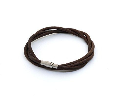 Tatrium Herren Armband Echtleder braun 20cm