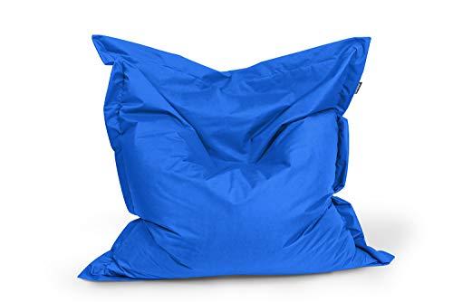 BuBiBag Sitzsack Sitzkissen Bean Bag Rechteck Größe 160 x 145 cm Indoor und Outdoor (blau) (Bean-bag-blau)
