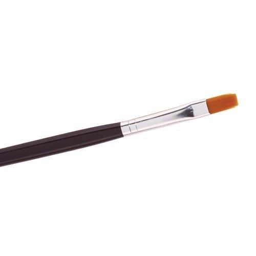 The Edge 2012505 Pinceau plat en nylon Nº 5 pour ongles en gel UV