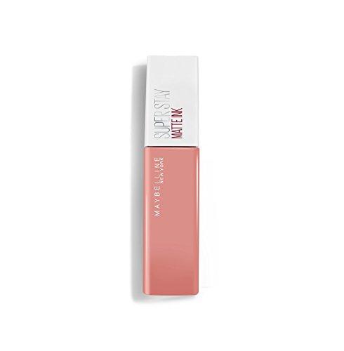 Maybelline Super Stay Matte Ink Un-Nudes Lippenstift Nr. 60 Poet, farbintensiver Lippenstift für...