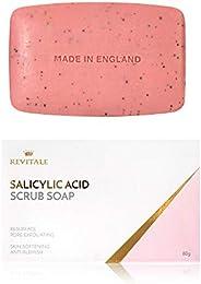Jabón exfoliante con ácido salicílico poro exfoliante, lucha contra el acné, piel suavizante, antimanchas, eli