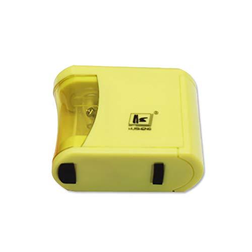 Temperamatite elettrico a pile caratteristica auto stop ultra portatile giallo