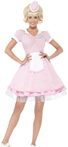 erdbeerloft - Damen 50er Jahre Diner Girl Kostüm, Fasching, Karneval, Kostümset, 34, (Mädchen Kostüme Jahre 50er)