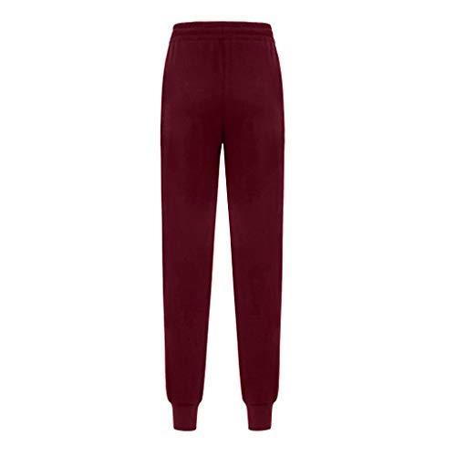 LeeMon Kleid Damen Streifen Jogging Hosen? LeeMon Frauen-hohe Taillen-Harem-Hosen Frauen-Streifen-elastische Taillen-Streifen-beiläufige Hosen