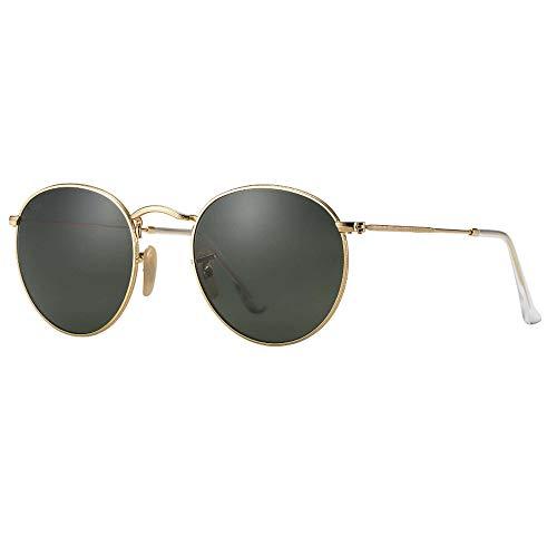 WULE-Sunglasses Unisex New Frauen Metallrahmen Sonnenbrille Stilvolle UV400 Pretection CR39 HD Lens Polarized Light Grey Unisex (Farbe : Gray)