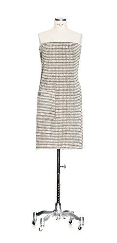 möve Eden Sarong mit Kästchenstruktur Velours in Gr. 40 / 48 aus 80 % Baumwolle / 20 % Leinen, nature / black