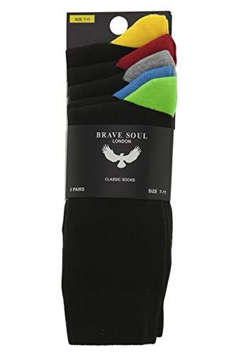 Brave Soul Herren Relaxed Socken mehrfarbig mehrfarbig 44 Gr. 44, multi - Casual-christmas-socken