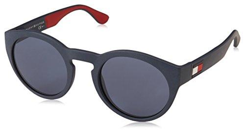 Tommy hilfiger th 1555/s, occhiali da sole uomo, bl redwht, 49