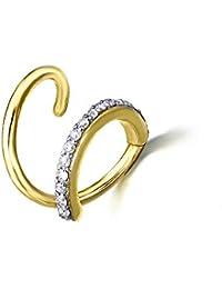 2b7f845bc7ce Pendiente con forma de espiral con pequeños diamantes