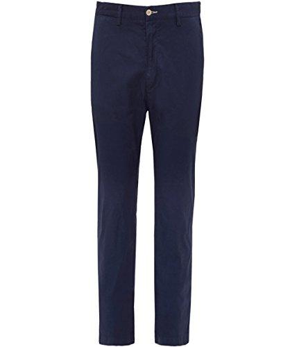 Gant Uomo Pantaloni Slim Fit estate UK 32R Blu Sera