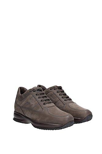 HXM00N00010F0UB216 Hogan Sneakers Uomo Camoscio Marrone Marrone