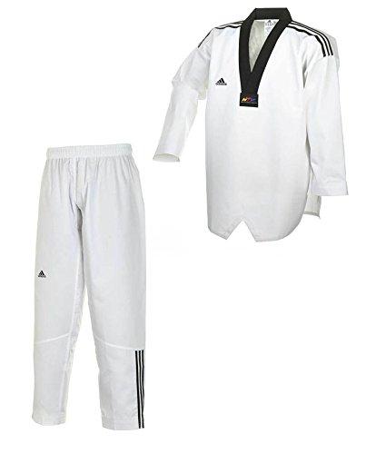 adidas Dobok Adiclub 3S - schwarzes Revers Taekwondo-Anzug (170) (190)