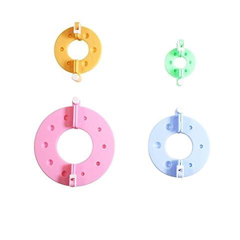 4 Piece Plastic Pom Pom Fluff Ball Maker Set by