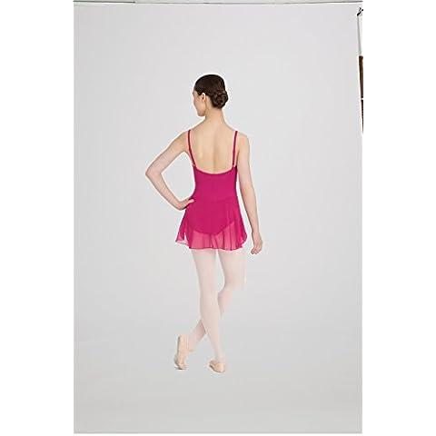 Vestito da balletto DanceConnexxion attaccata con gonna in chiffon regolabile e i vettori per ragazza (gelso, 10-12 anni (grande))