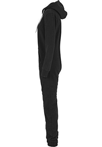Urban Classics TB1077 Ladies Sweat Jumpsuit Overall Anzug Teddy Damen, Farbe:blk/wht;Größen:M - 4