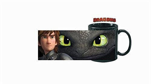 Dreamworks Tazza con Sdentato & Hicks, 320 ml, Nero