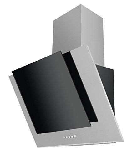 AMICA KH 17112 E Exclusiv, kopffrei Kaminhaube/Glas/Schwarz / 60 cm/Halogen Beleuchtung