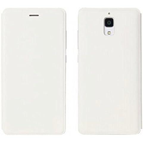 Prevoa ® 丨PU leather flip cover case for Xiaomi Mi4 M4 (Blanco)