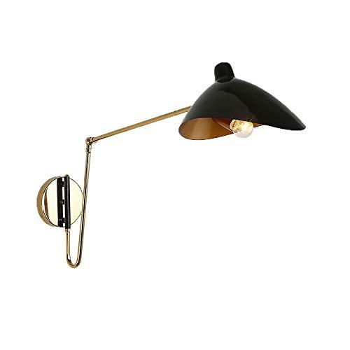 Industrial de hierro plegable brazo largo luces de pared moderna boca de pato Serge Mouille lámpara de pared para el hogar comedor luminarias de noche