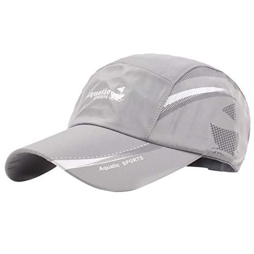 EUCoo_hat Unisex Sommer Sunhat atmungsaktive Kappe Baseball Cap Outdoor Bergsteigen Kappe(Grau) Twill Mesh Back Cap