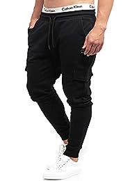 Indicode Pantalones de chándal Bendner de 60 % algodón, corte regular, pantalones de entrenamiento, pantalones de deporte, pantalones cargo para correr, pantalones de chándal para hombre