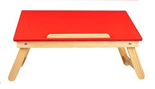 Earthwood Wooden, Foldable, Multipurpose (Study / Reading / Eating / Craft-work) Laptop Table in Red colour  available at amazon for Rs.1098