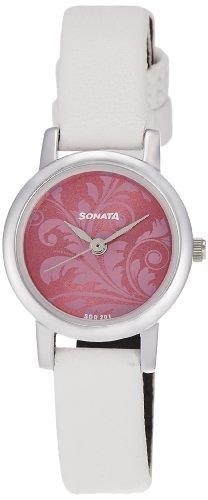 Sonata Analog Pink Dial Women's Watch -NK8976SL03W