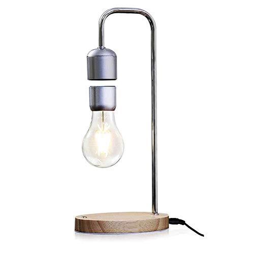 (Wzlight Tischlampe magnetische Suspension Birne drahtlose leitung led Lampe Schlafzimmer kreative Dekoration Desktop büro Dekoration Geburtstagsgeschenk)