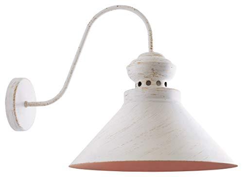 Vintage Retro Wandleuchte Loft 17181 Metall Weiß Gold Bronze Ø 33 cm; E27; 1 * 60W Modern Design Wandlampe Minimalistische Wandbeleuchtung Downlighter Schlafzimmer Treppenhaus Wohnzimmer -