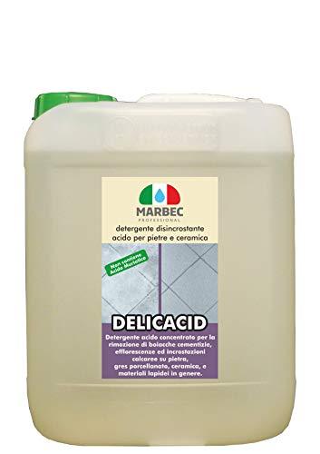 Marbec - DELICACID 5LT | Detergente disincrostante acido delicato per pietre e ceramica