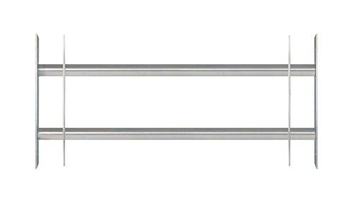 GAH-Alberts 563684 Fenstergitter Secorino Basic - Ausziehbar für Fenster außen - galvanisch blau verzinkt - Einbruchschutz Gitter - 300 x 700-1050 mm