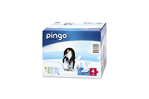 PINGO Pañales ecológicos Talla 4 maxi (7-18 kg) - pack de 2 x 40 pañales ¡Nuevo envase compacto y biodegradable!