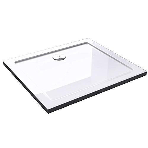 Mai & Mai receveur de douche bac à douche 70x80x4cm en acrylique blanc rectangulaire Lucia/Faro