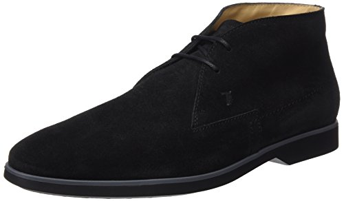 TODS - Xxm0Wo0N210Re0B999, Zapatos De Cordones Brogue da uomo, nero (nero + fondo nero+catrame), 42 1/2
