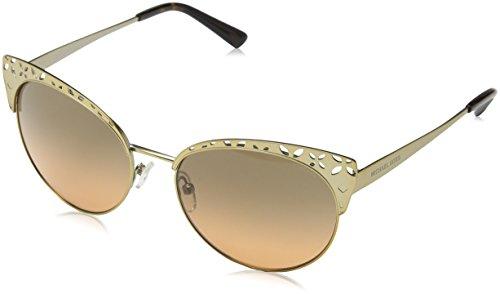 Michael kors evy 118918 56 occhiali da sole, oro (satin pale gold-tone/greyorangegradient), donna
