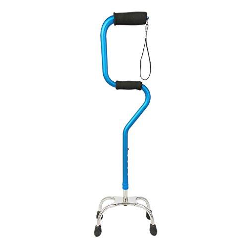 WENJUN Einstellbare Quad Cane Von Lightweight Walking Stick Für Männer Und Frauen Walking Staff Kann Von Rechts-oder Linkshänder Senioren Vier Fuß Walker Falling Verwendet Werden -