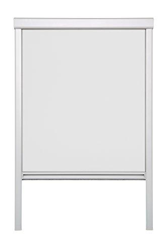 Lichtblick Dachfenster-Rollo Skylight, 97,3 x 116,0 cm (B x L) in Weiß, 100% Verdunkelung, Thermo-Rollo für Velux-Fenster, Sonnen-, Hitze- & Sichtschutz (S08)